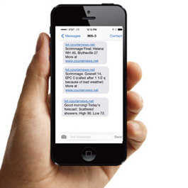 Sign up for Text Alerts from the Courier News